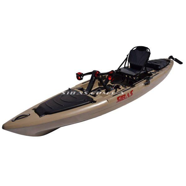 LION Каяк для риболовлі SIBAS з педальним приводом і рульовим управлінням