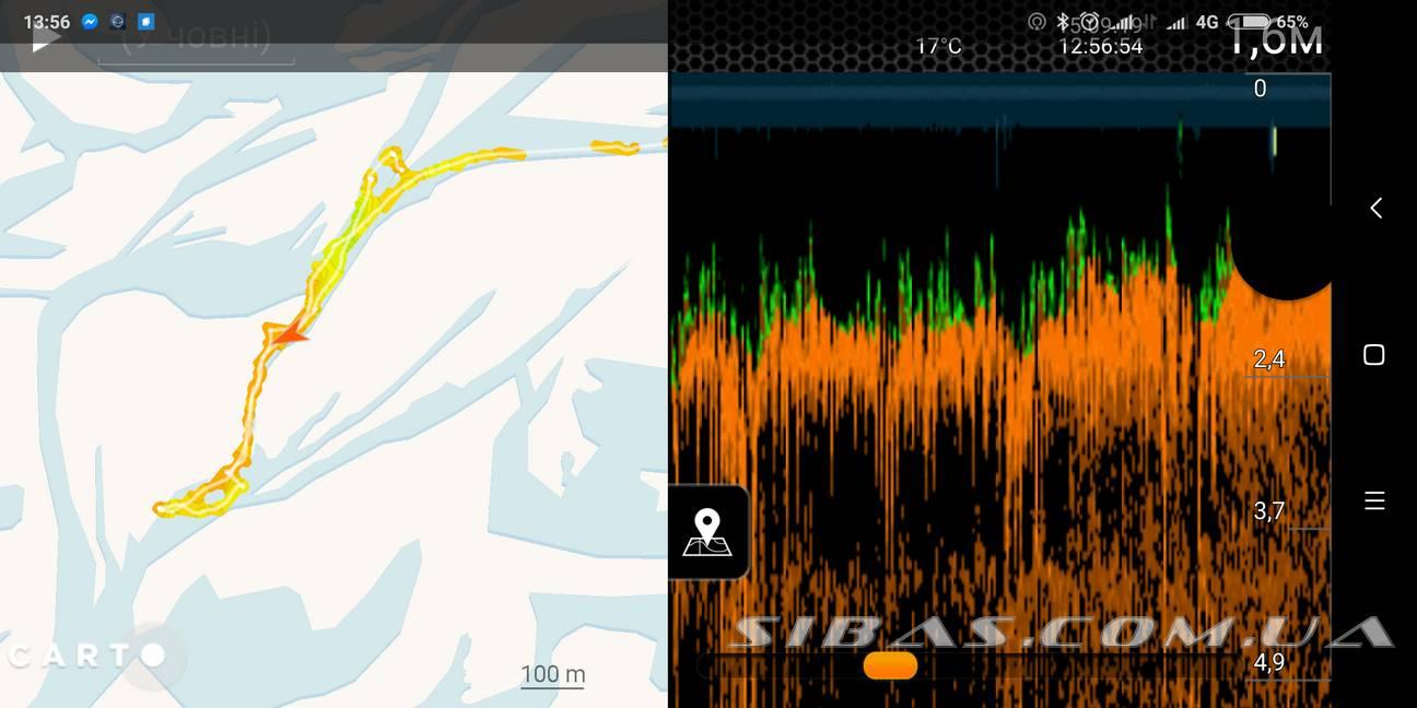 особенности эхолота deeper на каяке сибас с картами для рыбалки на педальном каяке Сибас Лион