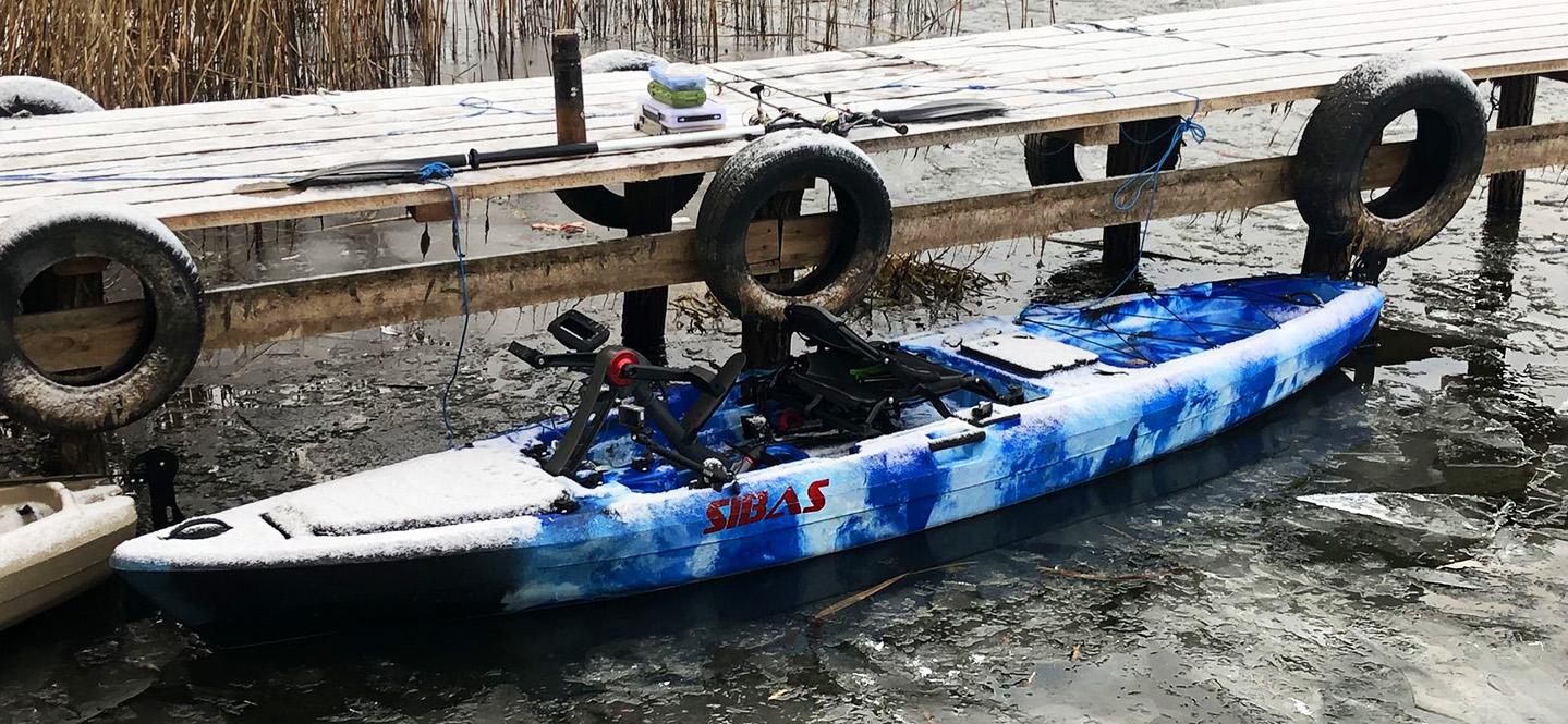 Рыболовный каяк Лион Сибас океан блю Рыболовный