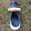 Крокс Crocband full force clog Slate Синие белая с оранжевым подошва 5061