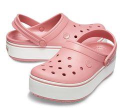 Крокс Сабо Платформа Crocs platform Пудра рожева біла підошва