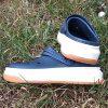 Крокс Crocband full force clog Slate Синие белая с оранжевым подошва 5058