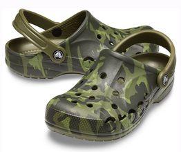 Крокс Сабо Crocs crocband камуфляж зеленый Clog