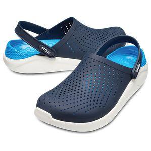 Крокс Crocs LiteRide Тёмно-Синий Белый голубая пятка